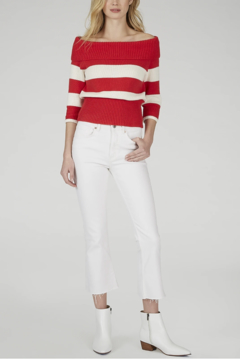 525 America Striped Boat Neck Pullover - Product List Image