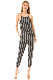 MONTREZ STRIPED BOHO RESORT JUMPSUIT - Product Mini Image
