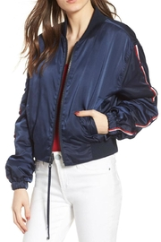 Kendall + Kylie Striped Bomber Jacket - Product Mini Image