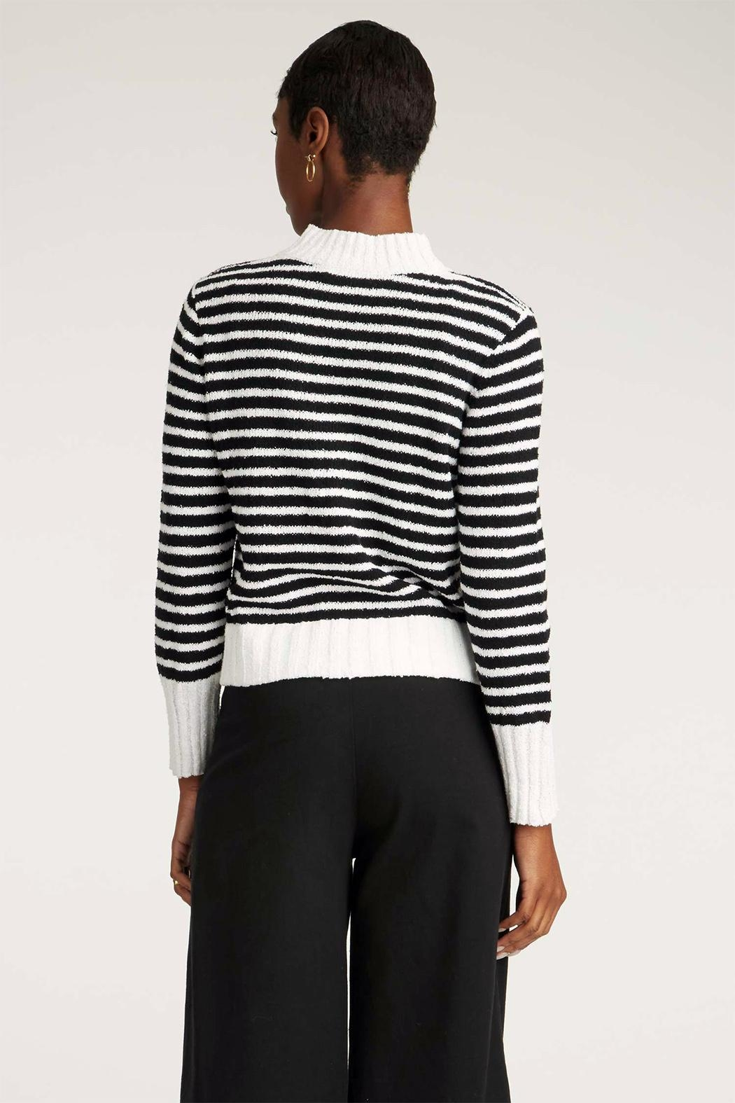 INDIGENOUS DESIGNS Striped Bouclé Sweater - Side Cropped Image