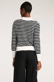 INDIGENOUS DESIGNS Striped Bouclé Sweater - Side cropped