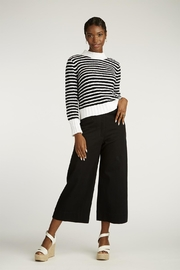 INDIGENOUS DESIGNS Striped Bouclé Sweater - Front cropped