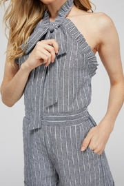 storia Striped Bow Romper - Side cropped