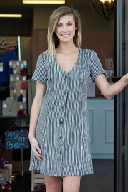 Wishlist Striped Button Accent Dress - Product Mini Image