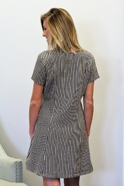 Wishlist Striped Button Accent Dress - Front full body