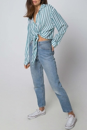 Motel Rocks Striped Button Down - Front cropped