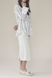 UCHUU Striped Button Down - Front cropped