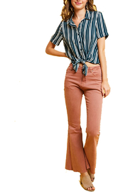 Listicle Striped Button Down Collared Shirt - Product Mini Image