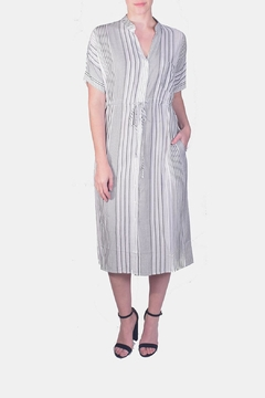 Shoptiques Product: Striped Button-Down Midi