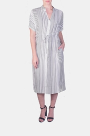 rokoko Striped Button-Down Midi - Product Mini Image