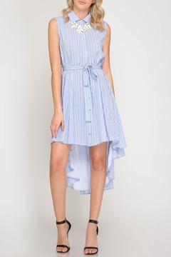 Shoptiques Product: Striped Button-Down Shirtdress