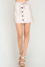 She + Sky Striped Button-Down Skirt - Back cropped
