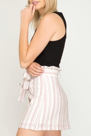 She + Sky Striped Button-Down Skirt - Side cropped