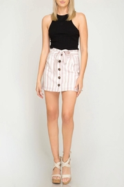 She + Sky Striped Button-Down Skirt - Other