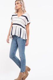 blu Pepper  Striped Button Down Top - Other