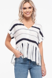 blu Pepper  Striped Button Down Top - Front cropped