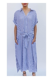 En Creme Striped Button Dress - Product Mini Image