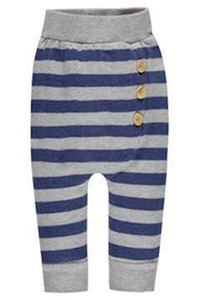 Belly Button Striped Button Sweatpants - Front cropped