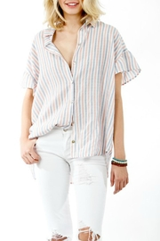 My Story Striped Button-Up Blouse - Product Mini Image