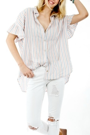 My Story Striped Button-Up Blouse - Side cropped