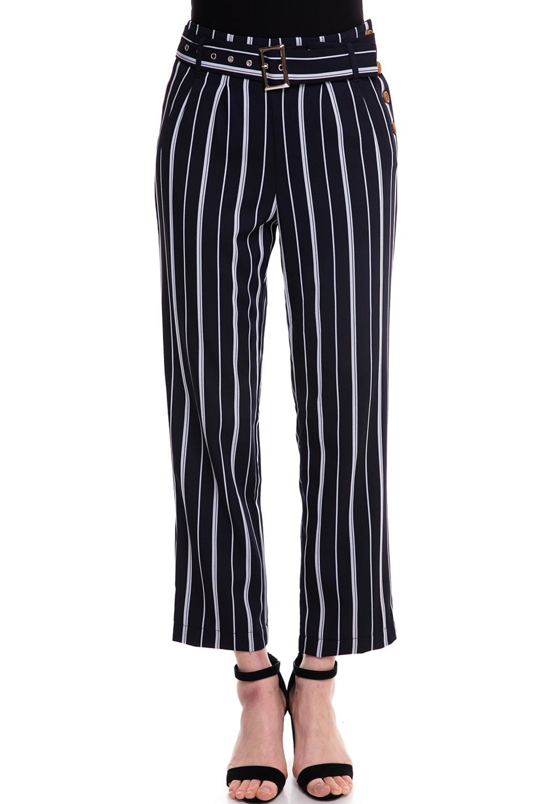 The Clothing Co Striped Buttoned Pants - Main Image