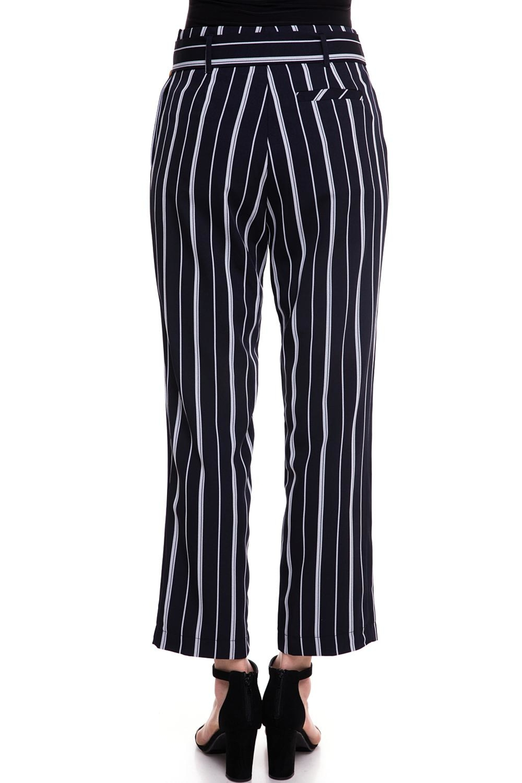 The Clothing Co Striped Buttoned Pants - Side Cropped Image