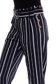 The Clothing Co Striped Buttoned Pants - Back cropped