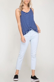 She + Sky Striped Cami Top - Product Mini Image