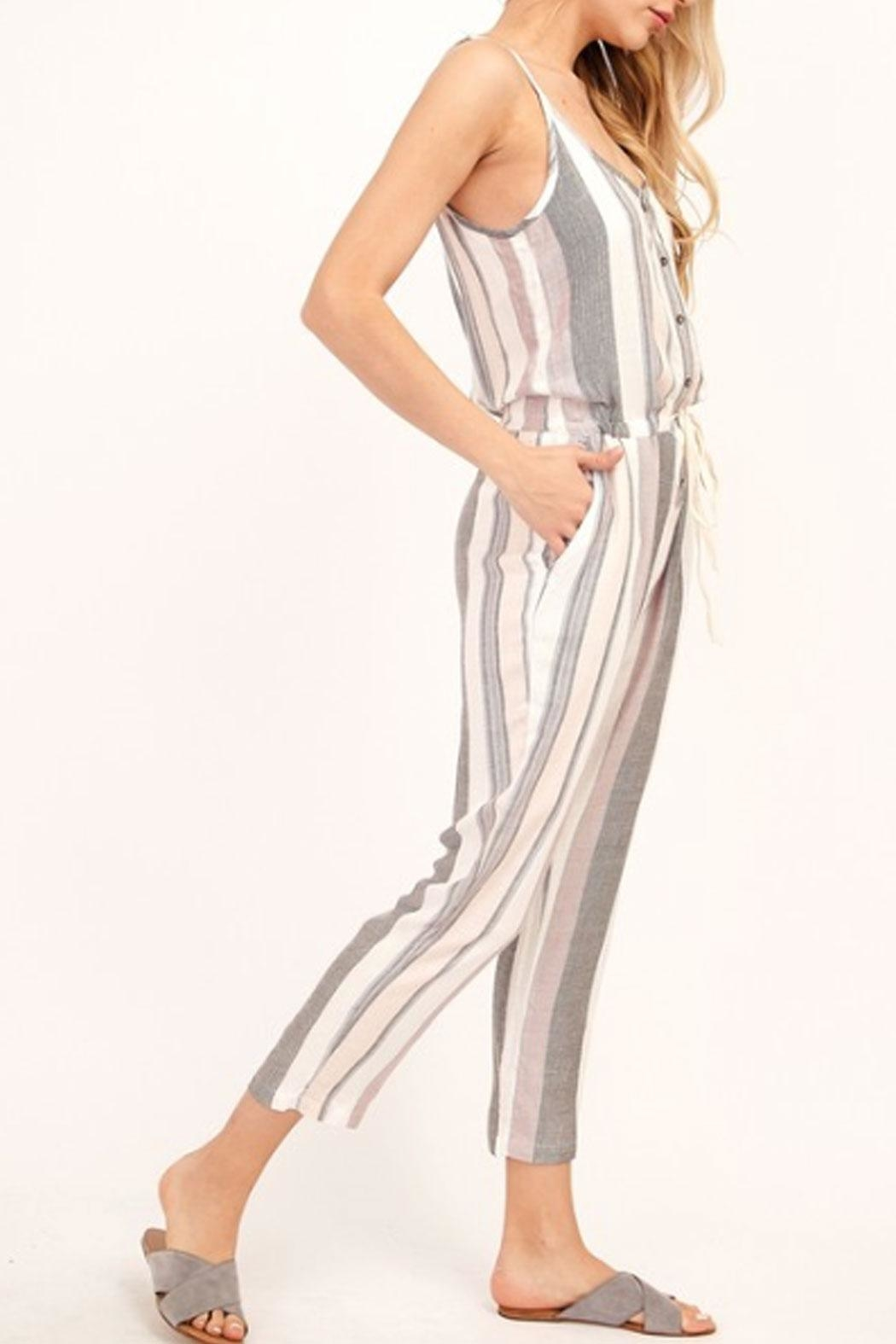a6cd75309ba Olivaceous Striped Capri Jumpsuit from New York by Runway   Rose ...