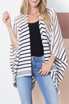 Simply Noelle Striped Cardi Wrap - Product List Image