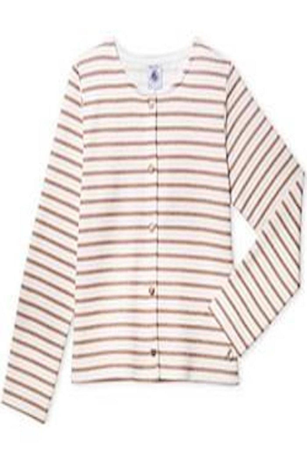Petit Bateau Striped Cardigan - Front Cropped Image