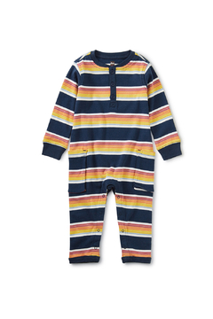 Shoptiques Product: Striped Cargo Romper