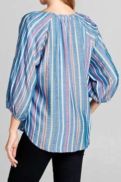 Miss Darlin Striped Chambray Top - Alternate List Image