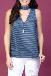 Naked Zebra Striped Choker Tank - Front cropped