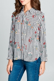DNA Couture Striped Colared Shirt - Product Mini Image