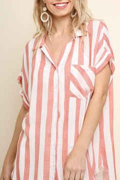 Umgee USA Striped Collared Blouse - Product List Image