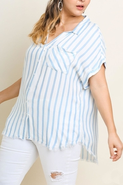 UMG PLUS Striped Collared Top - Product List Image
