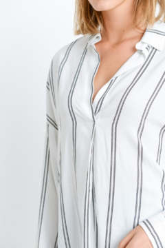 Paper Crane Striped Collared Top - Alternate List Image