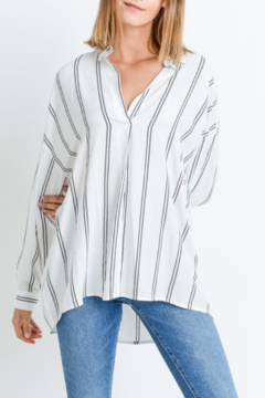 Paper Crane Striped Collared Top - Product List Image