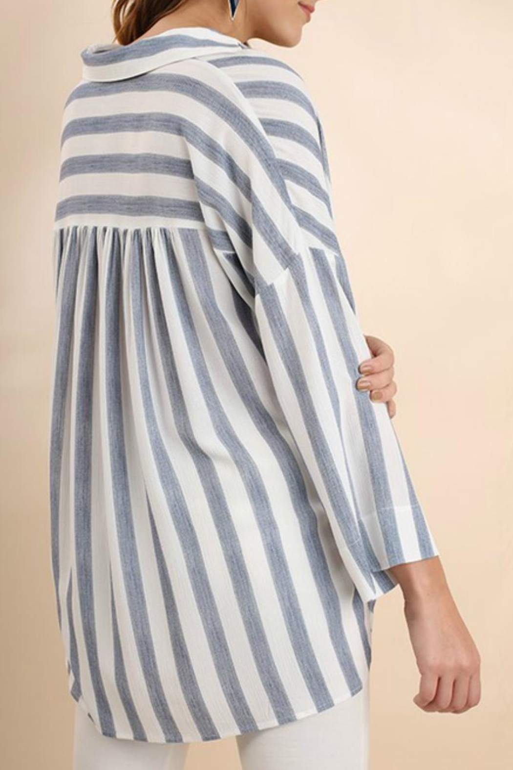 Umgee USA Striped Collared Tunic - Side Cropped Image
