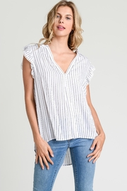 Jodifl Striped Collarless Top - Product Mini Image
