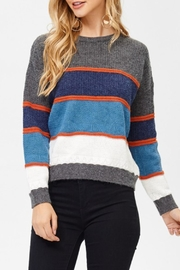 JJ'S Fairyland Striped Colorblock Sweater - Product Mini Image