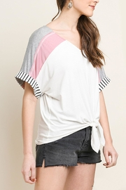 Umgee USA Striped Colorblock Top - Side cropped