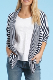 Fresh Produce Striped Cotton Cardigan - Product Mini Image