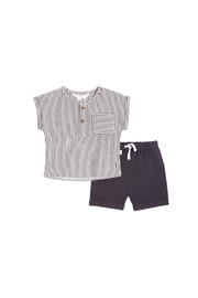 Petit Lem Striped Cotton Gauze Shirt & Shorts Set - Product Mini Image