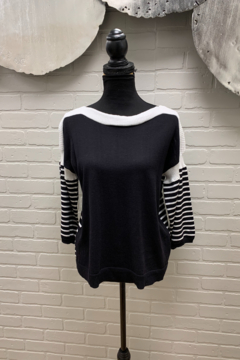 mel and lisa Striped Cotton Knit - Product List Image