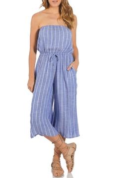 Elan Striped Coulotte Jumpsuit - Product List Image
