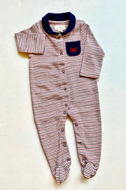 Mud Pie Striped Crab Sleeper - Front cropped