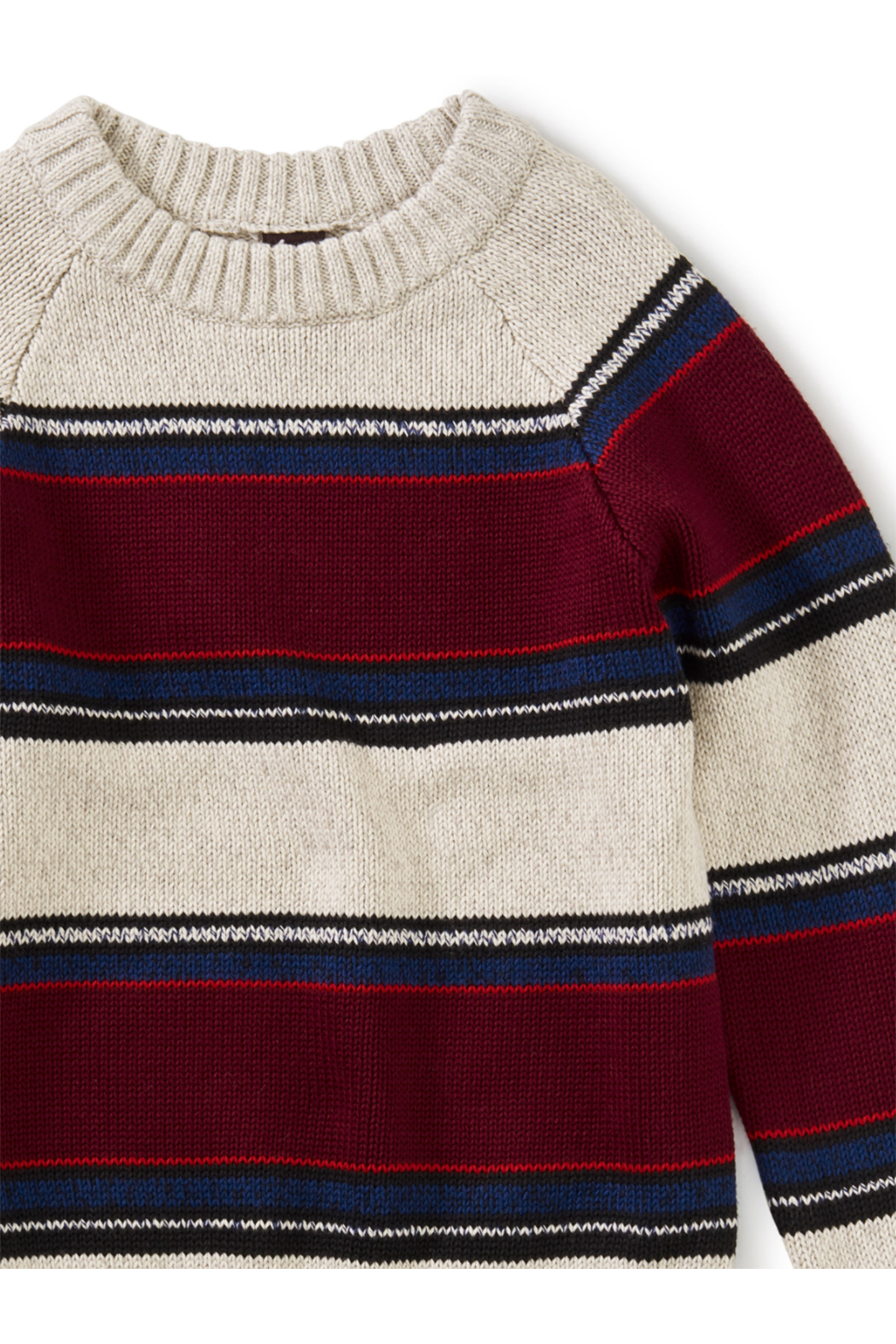 Tea Collection Striped Crew Neck Sweater - Side Cropped Image