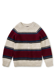 Tea Collection Striped Crew Neck Sweater - Front full body